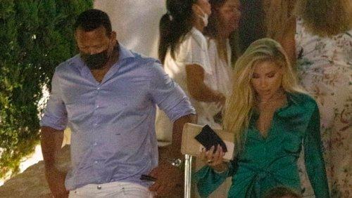Alex Rodriguez Heads To Dinner With Melanie Collins In Ibiza As Ben & J.Lo Cruise Through Naples