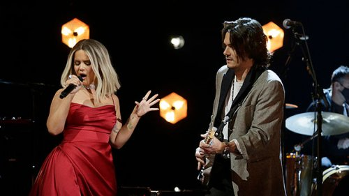 Maren Morris Stuns In A Red Dress For Sultry Grammys Duet With John Mayer