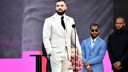 Drake's Son Adonis, 3, Clings To His Dad & Cries At The BBMAS: See Pics & Video From His 1st Awards Show