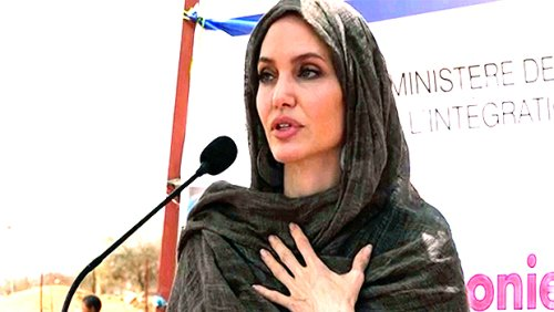 Angelina Jolie Wears A Headscarf While Visiting Refugees In Africa Amid Custody Battle With Brad Pitt