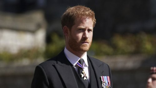 Prince Philip's Funeral: See Photos of Prince Harry, The Queen, & Royal Family Honoring His Life