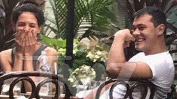 Katie Holmes Spotted On Romantic Lunch Date With Celebrity Chef -- See Pics