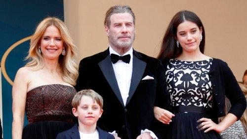 John Travolta Smiles In Rare Selfie With Kids Ella & Benjamin On 1st Father's Day Since Kelly Preston's Death