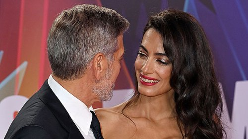 Amal Clooney Is Stunning In Strapless Gown On Red Carpet With George At London Film Fest — Photos