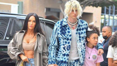 Megan Fox Stuns In Crop Top & Jeans On Dinner Date With BF Machine Gun Kelly & His Daughter Casie, 11