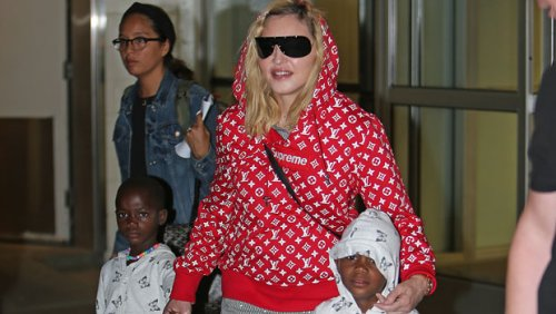 Madonna Dotes On Her Twins, 8, While Watching Son David's Soccer Game From The Sidelines