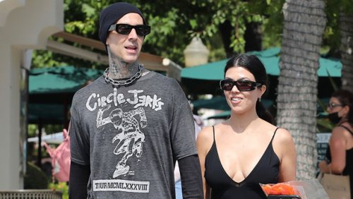 Kourtney Kardashian Straddles BF Travis Barker As They Play A Game Of Connect 4 — See Pic