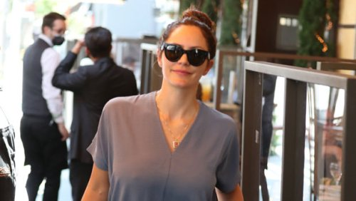 Katharine McPhee, 37, Wears Grey Dress On Rare Lunch Date With Husband David Foster, 71 — See Pics