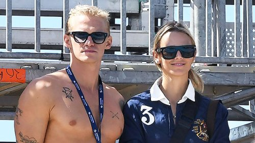 Cody Simpson & GF Marloes Stevens Pack On The PDA As They Attempt 'Dirty Dancing' Lift