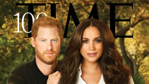 Meghan Markle Stuns In All-White For 'TIME's Most Influential Cover With Prince Harry