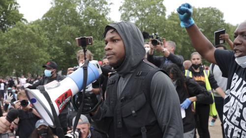 John Boyega Delivers Speech at Black Lives Matter Protest in London | THR News