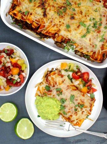 Vegan Enchiladas with Smoky Lentils