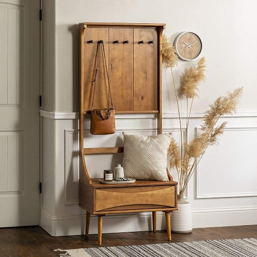 43 Hall Tree Benches To Win Back Your Organised Hallway