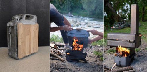 This DIY Wood-Fired Pizza Oven is Made From Jerrycan