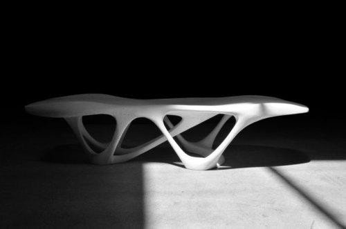 Slicelab 3D Prints Delicate Density Table Using Concrete