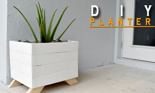 DIY planter made from pallets - free plans and video - Home Decorating Trends - Homedit