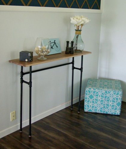 Original DIY Console Table From Scratch - 30 Design Project Ideas