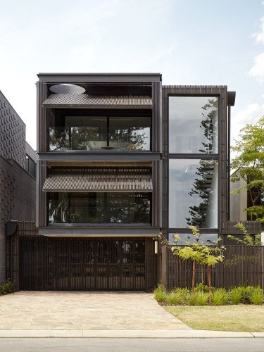 A Japanese-Inspired House With A Dynamic Facade Design