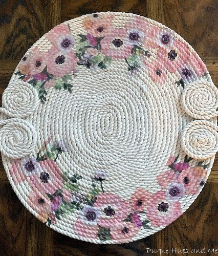 How To Make a Decorative Table Mat Using Cord