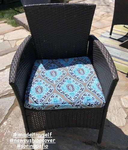 Sewing New Outdoor Cushion Covers