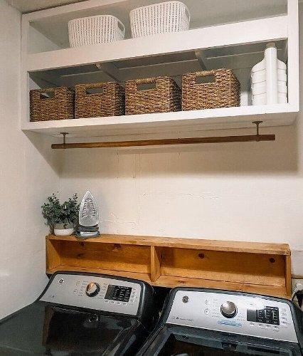 Our Quick, Easy DIY Laundry Shelf