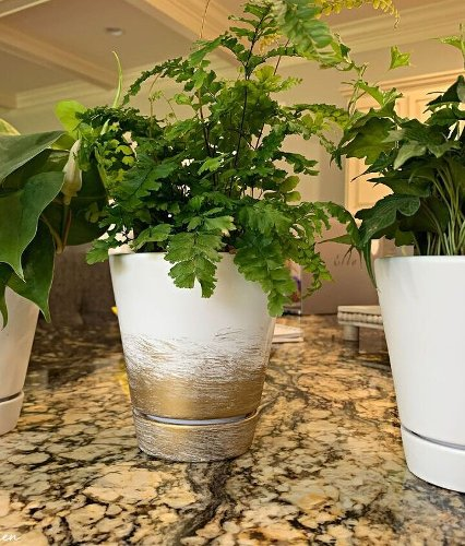 How To Gold Leaf A Flower Pot