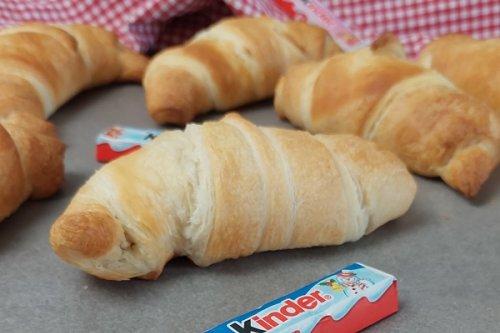 Schnelle Hörnchen mit Kinderschokolade - Croissant mit 2 Zutaten
