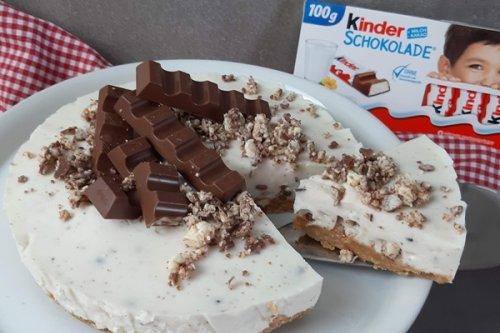 No Bake Kinderschokolade Kuchen mit nur 5 Zutaten