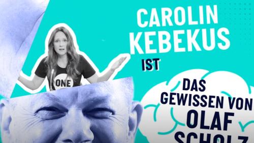 """Kampagne für """"Agenda 2030"""": Carolin Kebekus spielt das personifizierte Gewissen von Olaf Scholz"""