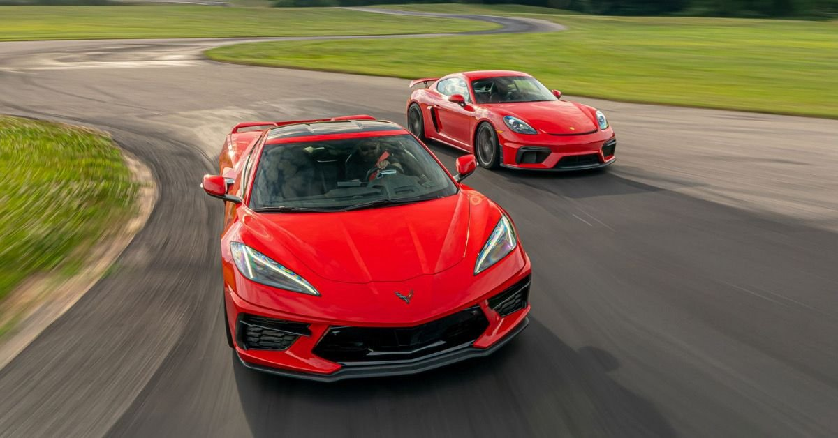 Here's How The C8 Corvette Compares To The Porsche 718 Cayman