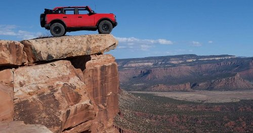 Watch Vaughn Gittin Jr. Park A Bronco On The Edge Of Moab's Top Of The World Trail