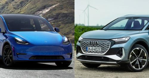 Here's How The Audi Q4 e-tron Undercuts The Tesla Model Y