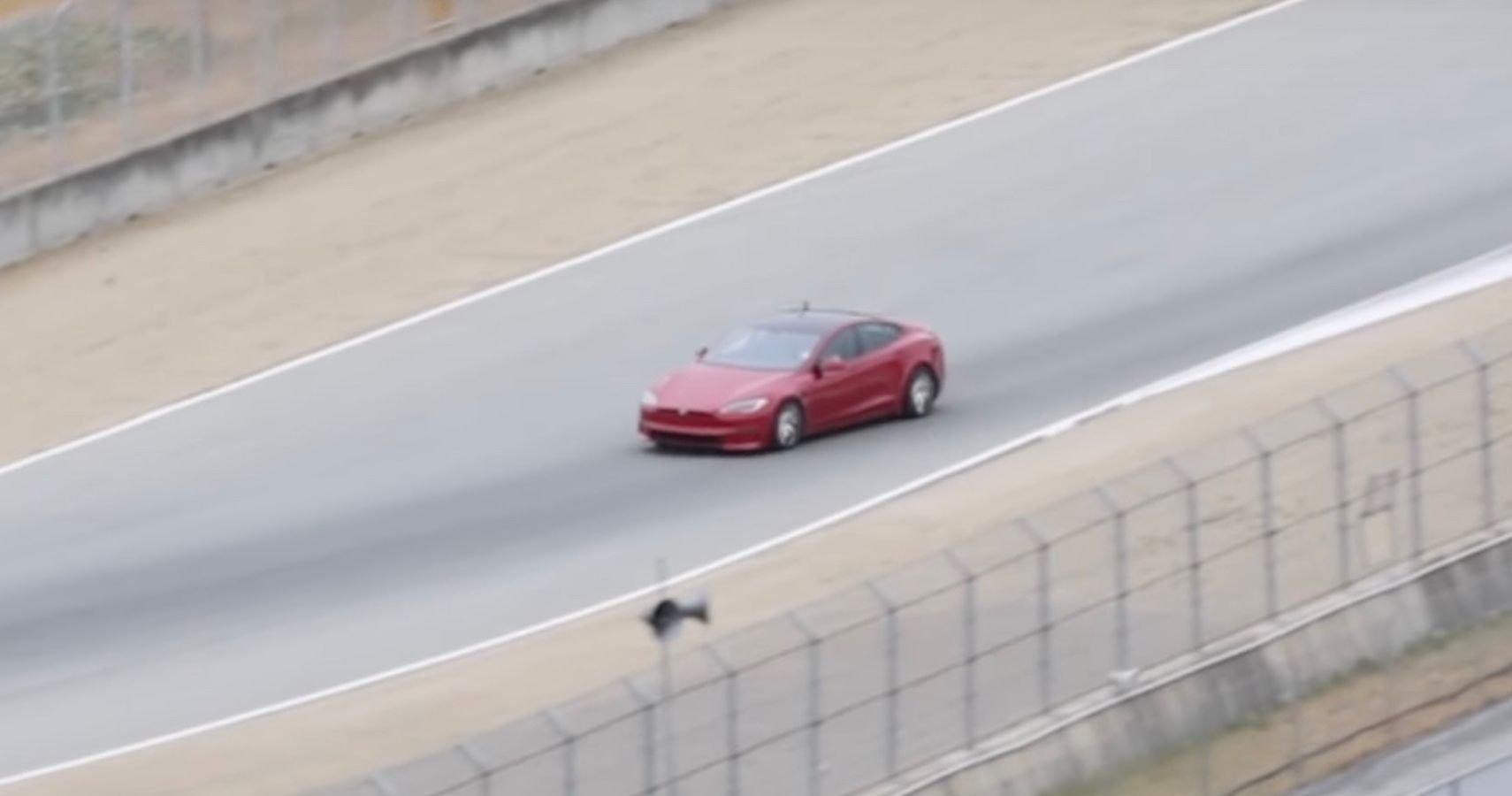Tesla Model S Might Have Set A New EV Record At Laguna Seca