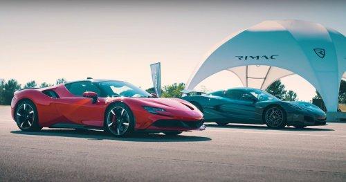 Watch: Ferrari SF90 Vs Rimac Nevera Drag Race Sets New World Record