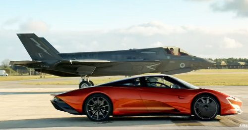 "McLaren Speedtail Drag Races F-35 Fighter Jet In ""Top Gear"" Video"