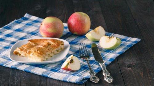 Rezept: Apfelkuchen mit Nusskruste
