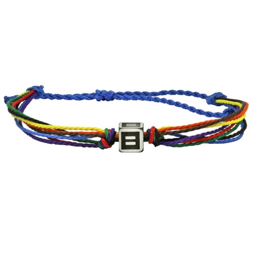 More Color More Pride Rainbow Cord Wristband | HRC