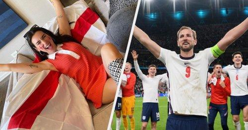 Dua Lipa, Robbie Williams And David Beckham Lead Celebs Celebrating England's Historic Euro 2020 Semi Final Win