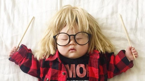 This Baby Has No Idea She's The Queen Of Dress-Up While She Naps