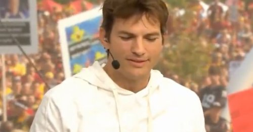 Ashton Kutcher Gets A Shower Of 'Take A Shower' Chants During Live US TV Appearance