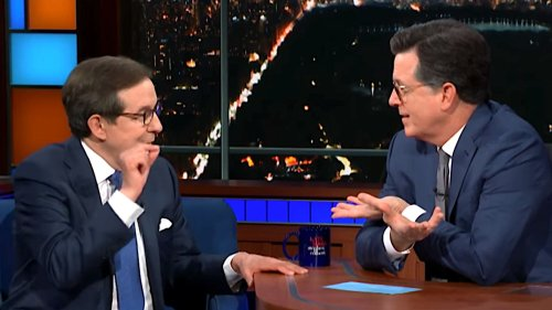 Stephen Colbert Gets In The Face Of Chris Wallace For Defending Trump