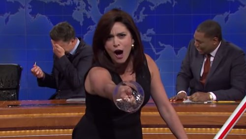 Raise A Glass To Cecily Strong's Wine-Drunk Jeanine Pirro Impression On 'SNL'