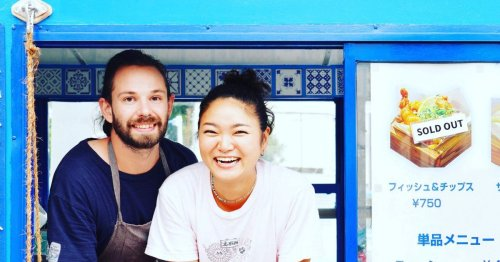 Expat sets up food van selling fish and chips to Japanese islanders