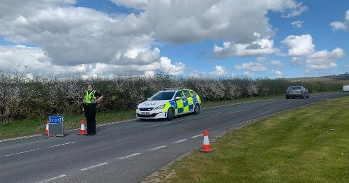 Police shut road near South Cave after three-vehicle crash