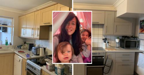 Mum transforms kitchen for £57 using Asda, B&M and Ikea