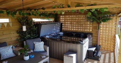 East Yorks family turn back garden into UK's best hot tub hut