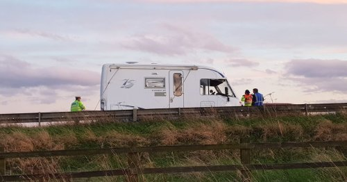M62 campervan crash near Goole causes major traffic disruption
