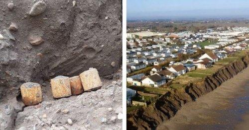 World War Two rocket parts found on East Yorkshire beach