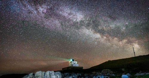 Heart of our Galaxy visible in UK sky last night