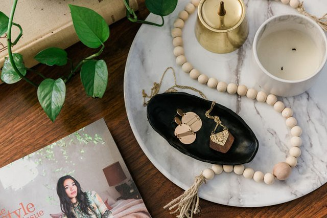 DIY Oblong Dish to Style on Your Coffee Table or Dresser (Using Air-Dry Clay) | Hunker